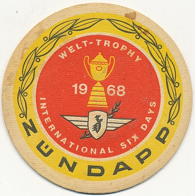 "Bierdeckel Motorsport 1968 | Antiquariat ""Die Bücher-Berg"""