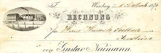 Gustav Neumann. Spirituosen-, Weinessig-, Senf- und Liquer-Fabrik. 1871