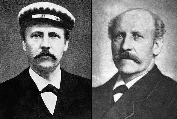 Friedrich Wienke als junger und als älterer Mann