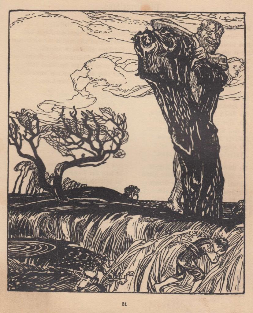 """Illustration zu """"Der Knabe im Morr"""" aus """"Deutscher Balladenborn für jung und alt (1904)"""