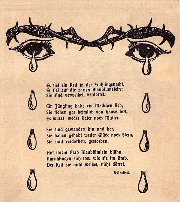 """Aus """"Deutscher Balladenborn für jung und alt"""" (1904)"""