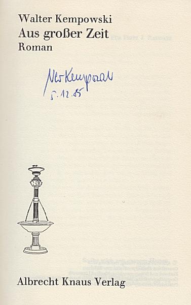 Unterschrift von Walter Kempowski