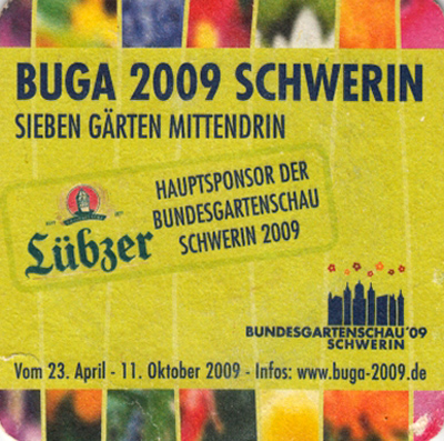Event-Bierdeckel BUGA 2009 in Schwerin