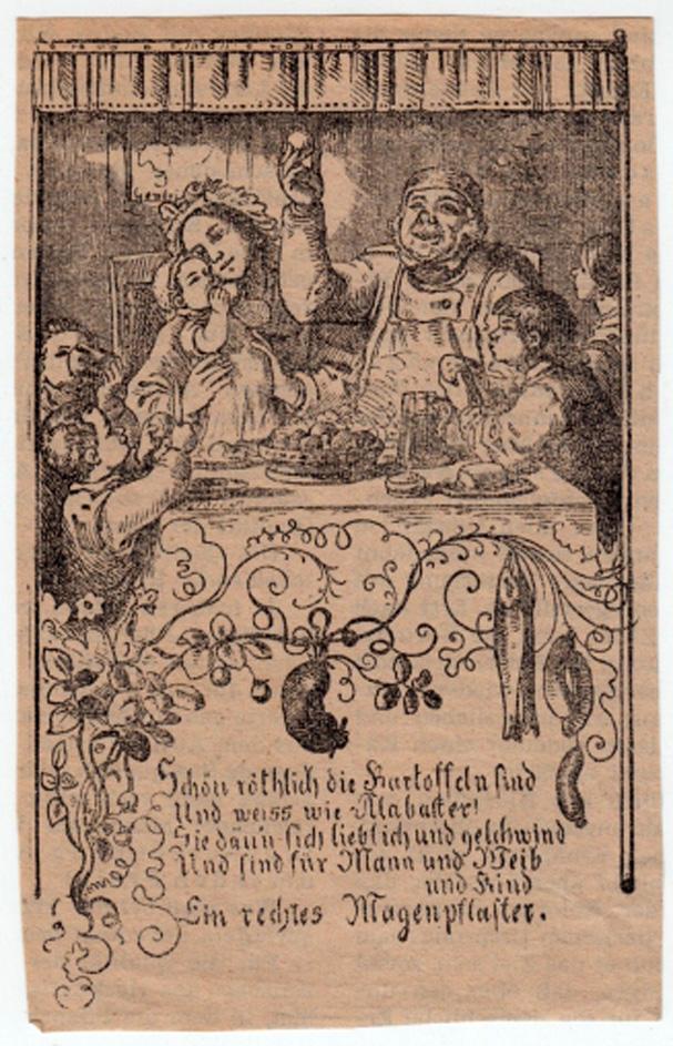 Ausgeschnittenes Bildchen mit Gedicht aus einer Zeitung