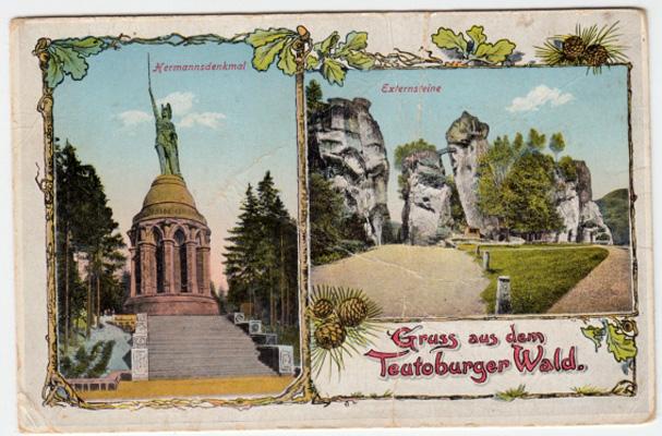 Schöne alte Ansichtskarte aus dem Teutoburger Wald