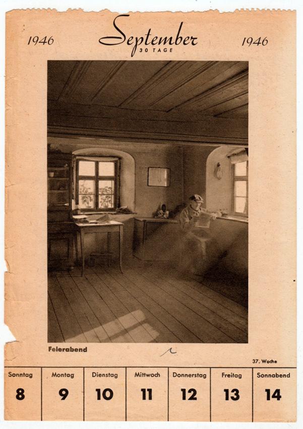 Kalenderblatt von 1946