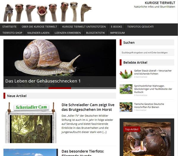 Zur Kuriosen Tierwelt - Bild anklicken!