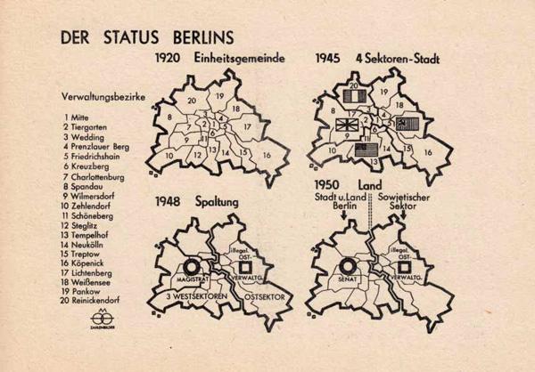 Der Status Berlins 1950 (Kartenvorderseite)