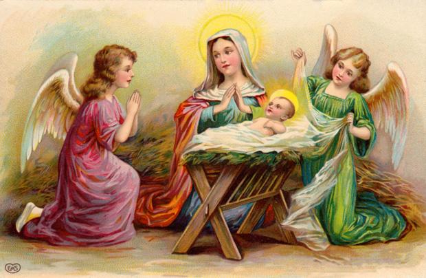 Alte Weihnachtskarte aus noch unkatalogisierten Beständen