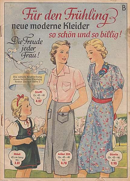 Wilhelm Schöpflin: Für den Frühling neue moderne Kleider. Katalog (um 1938)