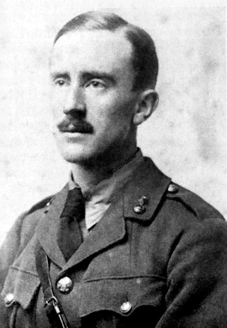 Tolien als Soldat im Ersten Weltkrieg (1916)