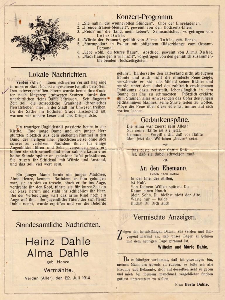 Hochzeits-Kladderadatsch von 1904 - Seite 3