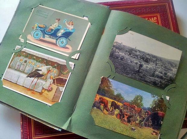 Altes Postkartenalbum - Foto: © Martina Berg