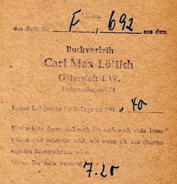 Buchverleih Carl Max Lüttich, Gütersloh